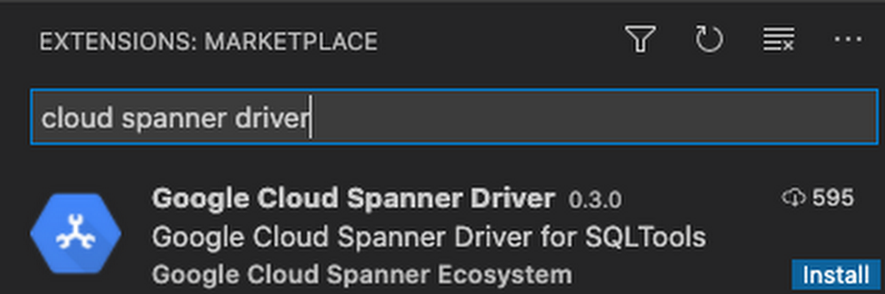 GCP – Browse and query Cloud Spanner databases from Visual Studio Code